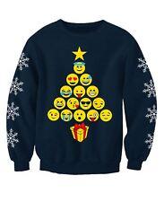 Emoji Christmas Tree Adults Novelty Christmas Sweatshirt Jumper
