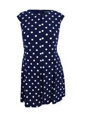 Lauren by Ralph Lauren Women's Plus Polka Dot Jersey Dress