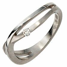 Platinring 1 Diamant Brillant 0,05ct. 950 Platin mattiert Diamantring 30423