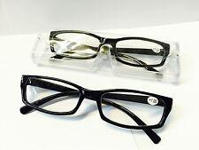 Lesehilfe Lesebrille Brille Sehhilfe +1,0 bis 4.0 mit Etui in schwarz