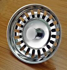 Stainless Steel Kitchen Sink Strainer Waste Plug (McAlpine bwstss-top) chrome