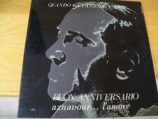 CHARLES AZNAVOUR BUON ANNIVERSARIO  LP APRIBILE