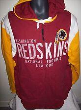 WASHINGTON REDSKINS Hooded Jacket Full Zip Hoody Screened & Sewn Logo M, L XL 2X