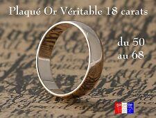 Alliance bijouterie anneau large en plaqué Or toutes tailles Pour Homme Femme