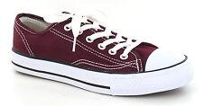 OFERTA Spot On x0001 Hombre Burdeos De Lona Con Cordones Zapatillas Zapatos
