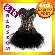 1296 Leopard Lolita Corset Top & Tutu Skirt 8 10 14 16