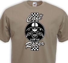 T-shirt CAFE RACER  Racing Motorcycle Ton-Up Biker Race Retro Norton AJS Vincent