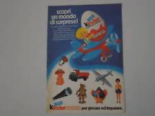 advertising Pubblicità 1977 OVETTO KINDER SORPRESA