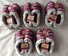 DEARFOAM Clog Aubergine Slippers w/ memory foam; In/Outdoor, Sz SM or MED; 30557