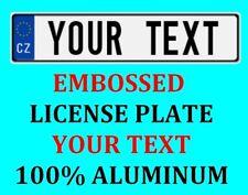 Czech Republic European Euro License Plate Number Plate Custom Text Customized