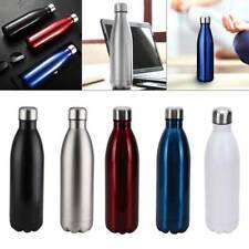 500ML Edelstahl Bürste Trinkflasche Isolierflasche Wasserflasche fF