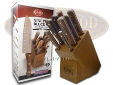 CASE XX 9 Piece Wooden Block Walnut Stainless Kitchen Knife Knives Set