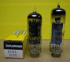 NOS NIB Vintage Sylvania 6CW5 EL86 Vacuum Tube + Amperex UOS