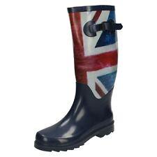 Ladies Spot On Union Flag Design Pull On Wellington Boots