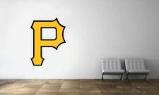 Pittsburgh Pirates Logo Wall Decal MLB Baseball Decor Sport Mural Vinyl Sticker