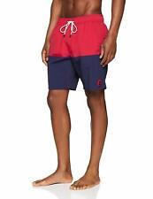 Timberland Men's Sunapee Block Red Navy Swimwear Beach Holiday Shorts Trunks New