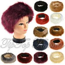 "New Ladies Russian ""FOX "" Faux Fake Fur Hat HeadBand Winter Earwarmer Hat"