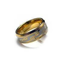 Men's Gold Tone Tungsten Carbide Engraved Celtic Ring