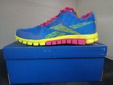Reebok Realflex Run 2.0 Running Women's Shoes Blue/Yellow/Pink - NEW