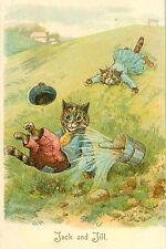 "Louis Wain Jack And Jill Cats Art Print Vintage Cat Art Cat Decor 4x6"" - 16x24"""