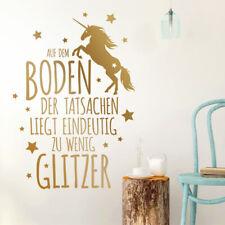 Wandtattoo Wandaufkleber Wandsticker Spruch Flur Boden Tatsachen Glitzer W1485