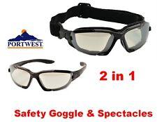 Portwest PW11 levo 2 in 1 Occhiali di Sicurezza / Occhiali-Chiaro