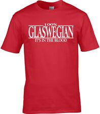 Glaswegian Mens T-Shirt - 100% Glaswegian It's In The Blood Scotland Glasgow