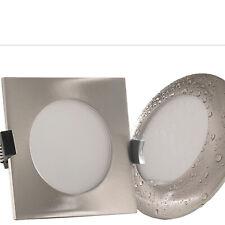 LED Einbauspot IP54 230V 8W=75W flach 40mm dimmbar Edelstahl Opt. ATLANTICO EO
