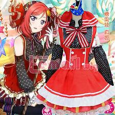 Love Live Nishikino Maki Candy Lolita Cosplay Costume Maid Dress free shipping