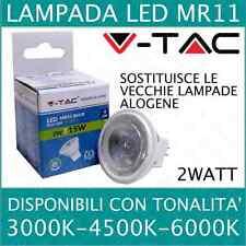 V-TAC LAMPADINA FARETTO SPOT BULB LED 2W G4 MR11 12V GU10 220V MINI LUMEN 38°