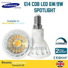 Chip E14 de LED de Samsung 6W 9W 120 ⁰ COB LED Frío/Caliente Blanca Lámpara Bombillas de Rosca Edison