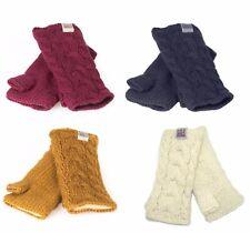 Kusan 100% lana filato spesso Cavo Lavorato a Maglia handwarmers un sacco di colori unisex