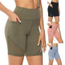 Women's High Waist Yoga Short Abdomen Control Training Running Yoga Short Pants