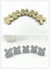 Holz Kaninchenform Holzperlen Kinder DIY Schmuck Handwerk Nähen zubehör 20mm