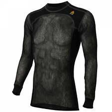 WoolPower uncuello 200 merino-Lana cuello de tortuga invierno bajo camisa jersey negro