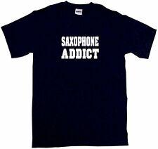 Saxophone Addict Mens Tee Shirt Pick