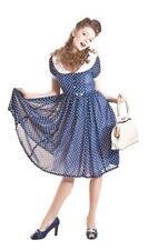 Collectif 50s Betty Lou polka Dots mousseline swing dress/robe rockabilly