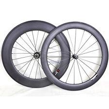 60mm 88mm Sapim CX-RAY Carbon Wheel Clincher Road Bike 700C Basalt Rim 3k matt