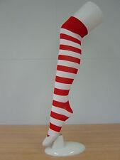 Knee High Red/White Stripe Socks Wendy Wally Fancy Dress