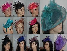 Fascinator Headpiece Brautschmuck Haarreifen grün blau grau rot lila braun