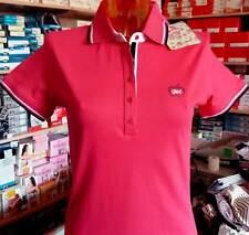 Polo donna Baci & Abbracci con logo e strass, profili in contrasto art BA02601
