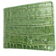 Men's 100% Genuine Leather Wallet Crocodile Pattern LEATHEROPIA Brand