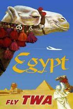 Countries Travel Poster Egypt Twa CTP016 Art Print A4 A3 A2 A1