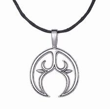 Lunula Pendant Crescent Moon Necklace Mystical Magical Steampunk Lunitsa Amulet