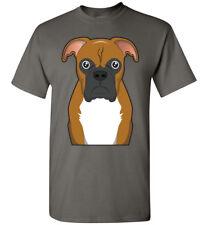 Boxer Dog Cartoon T-Shirt Tee - Men Women Ladies Youth Tank Long Sleeve