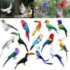 Künstlicher Vogel Figur bunt Vögel Vogel Dekofigur Deko Karneval Fasching
