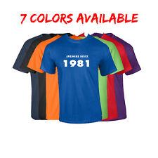 Born in 1981 T-Shirt Awesome Since Birthday T-Shirt Birth Year Birthday Gift