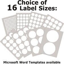 Round Matt White Paper Labels Laser Copier Inkjet Printer Stickers 5 A4 Sheets