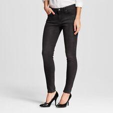 NWT Mossimo Midrise Skinny Women Black Midnight Jeans