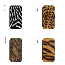 Animal Print Pelle Pelliccia Modello Portafoglio Telefono Custodia Cover Tutti iPhone & Samsung